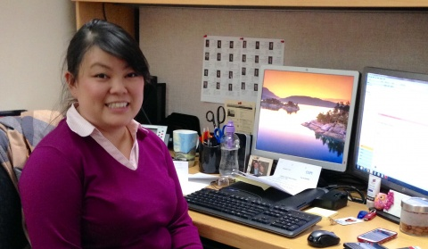 Kitchissippi Ward Councillor's Assistant Susan Ong at her desk