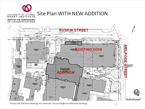 UOHI Expansion Site Plan with new addition