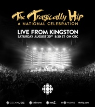 The Tragically Hip: A National Celebration in Parkdale Park on August 20 from 8:30 PM to 11:30 PM