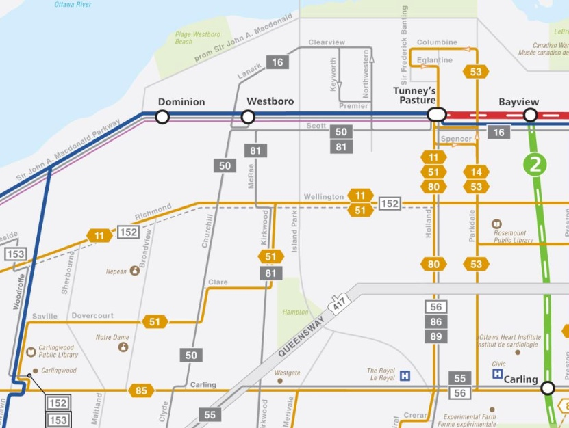 Oc Transpo Route Map Proposed changes in Kitchissippi to OC Transpo routes  Oc Transpo Route Map