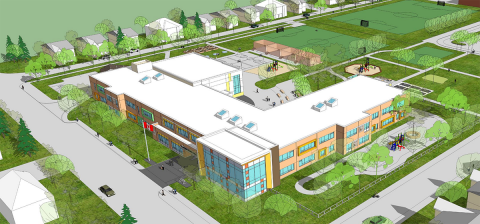 The approved plan from November 2014 for the new Broadview School after rebuild in 2015.