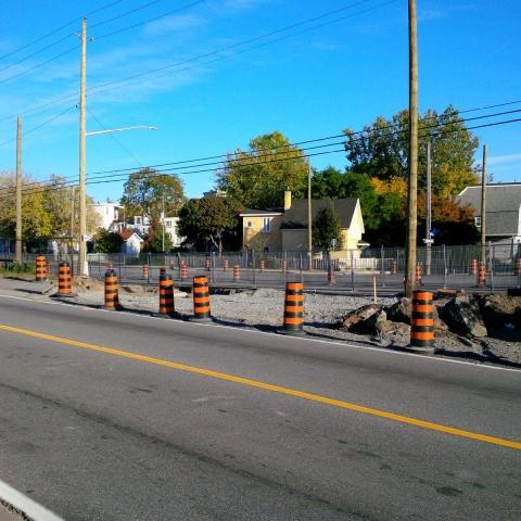 Construction taking place on Scott Street