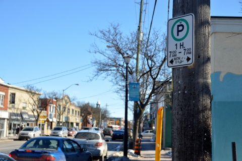Picture of parking sign along Richmond Road